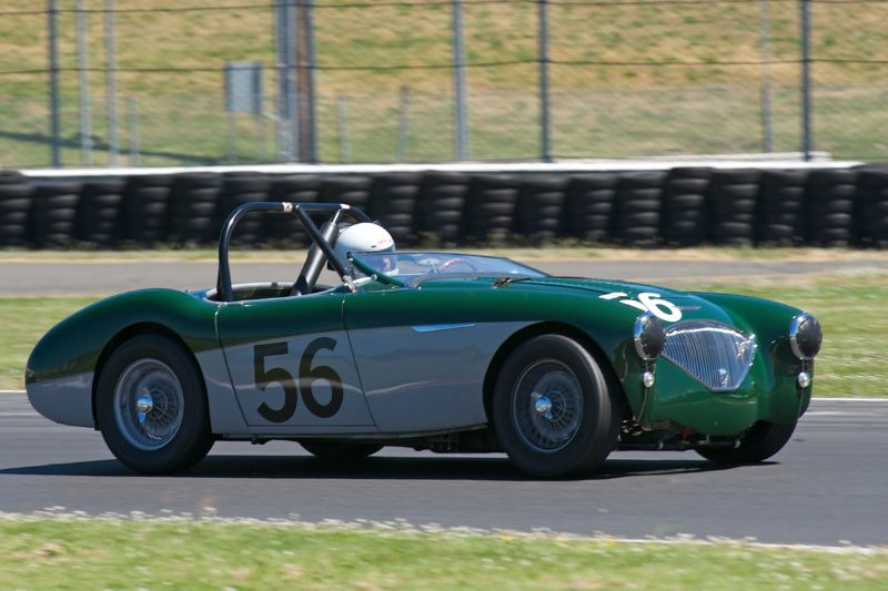 1956 Austin Healey 100M driven by Rich Thomas.