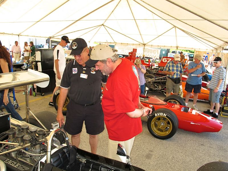 Tony Adamowicz with Speed F1 Commentator Steve Matchett