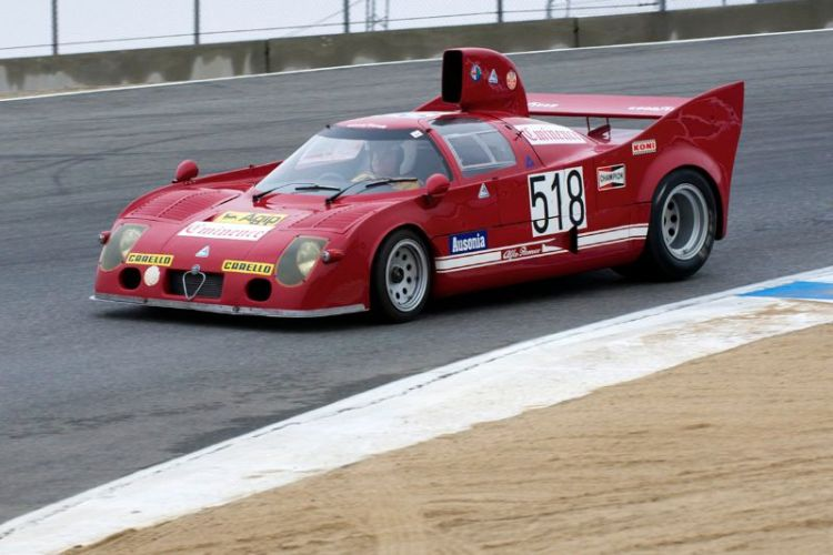 Joe Nastasi in his 1972 Alfa Romeo T33.