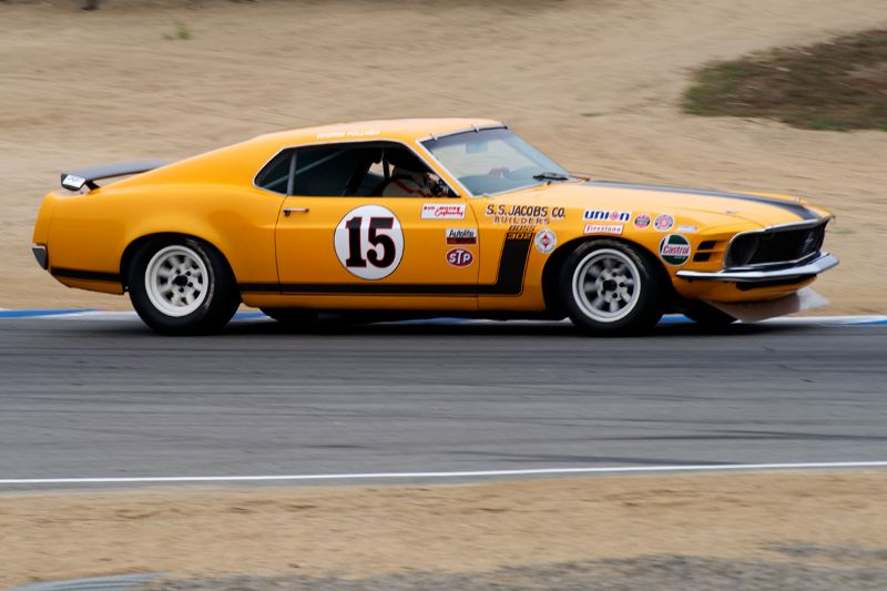 Brian Ferrin in his 1970 Ford Mustang Boss 302