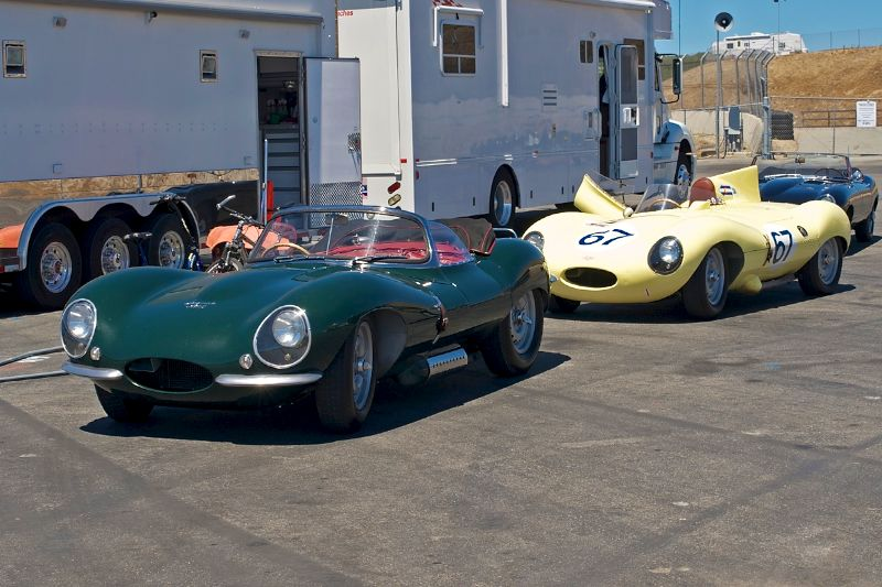 A Jaguar XKSS and a D Type Jaguar.