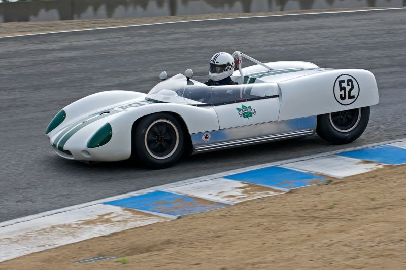 Carl Moore in his 1960 Lotus 19 Monte Carlo Coventry Climax.