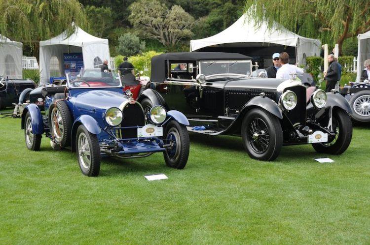 1927 Bugatti T43 and 1930 Bentley Speed Six
