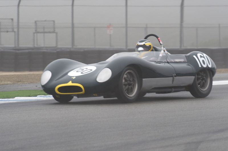 Ed Nigro's Lola MK 1 finished third in Group 1A. Great helmet too.