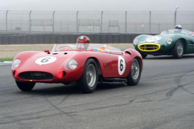 Jon Shirley's Maserati 300S leads Gregory Whitten's Aston Martin DBR2.
