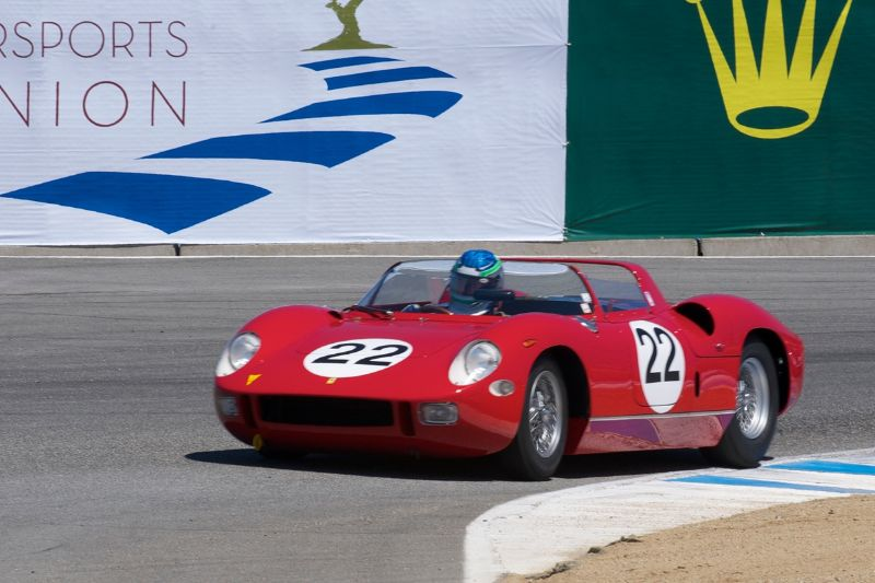 1963 Ferrari 250P driven by Stephen Hill.