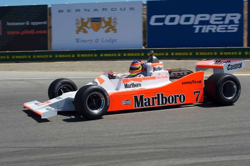 Zak Brown in his 1979 McLaren M28.