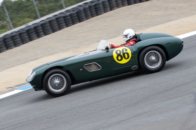 Bernard Juchli in his 1955 Jaguar Hagemann Special.