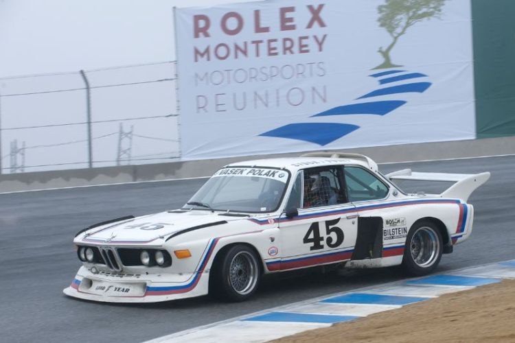 Andrew Cannon in his 1974 3.0 BMW CSL Batmobile.