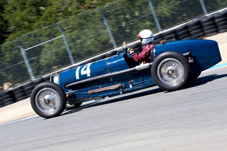 Charles McCabe in his 1934 Bugatti Type 59
