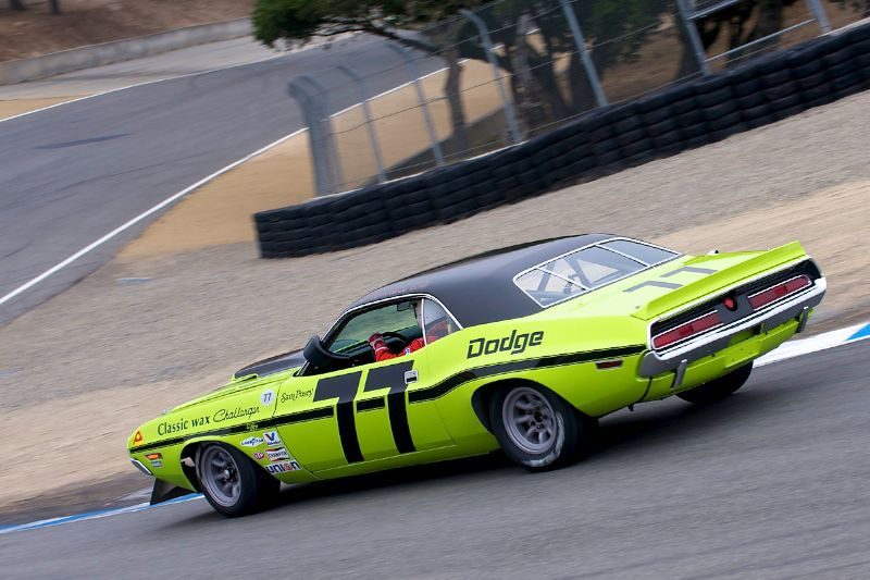 Ken Epsman's 1970 Dodge Challenger finished third in Group 7A.