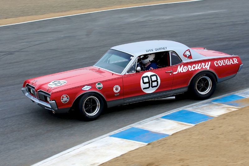 Chris Liebenberg in his 1967 Mercury Cougar.