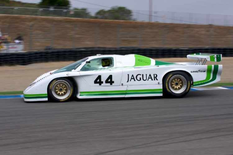 Rick Knoop in his quick 1984 jaguar XJR5.