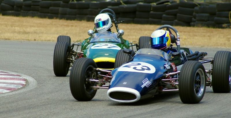 Formula Ford's in turn 5