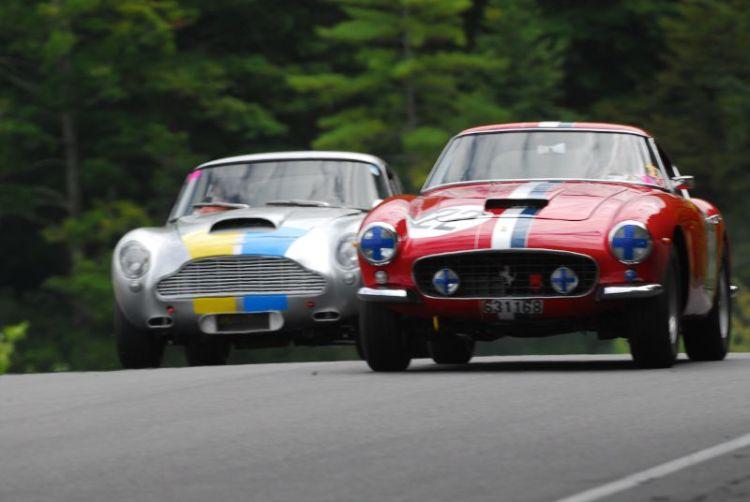 1960 Ferrari 250 GT SWB - Robert Bodin and 1960 Aston Martin DB4GT - Jack Boxstrom.