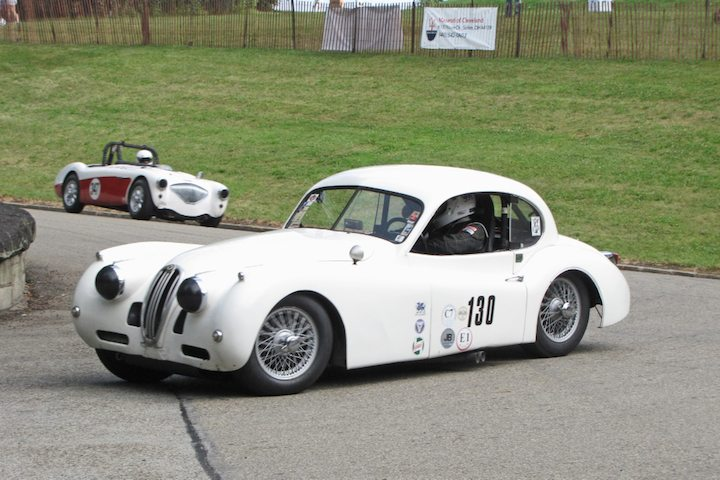 1954 Jaguar XK120 and 1956 Austin Healey 100/4
