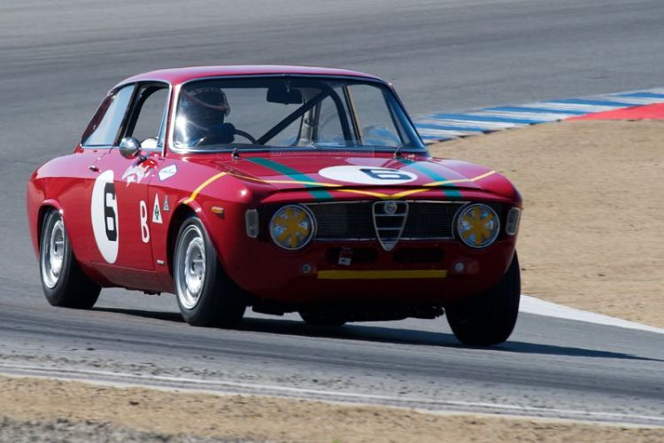Bob Lee in his 1965 Alfa Romeo GTA.