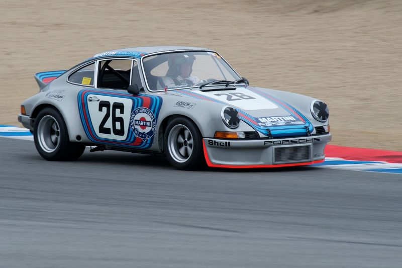 Brad Hook in his 1973 Porsche 3.0 RSR Prototype.