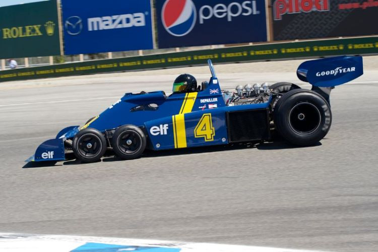 1976 Tyrrell P34 F-1 driven by Craig Bennett.