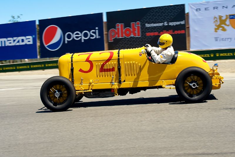 Lammot DuPont in his 1930 DuPont Motors 2-Man Indy Car.