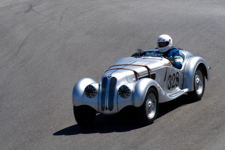 John Fitzpatrick in his 1939 BMW 328.