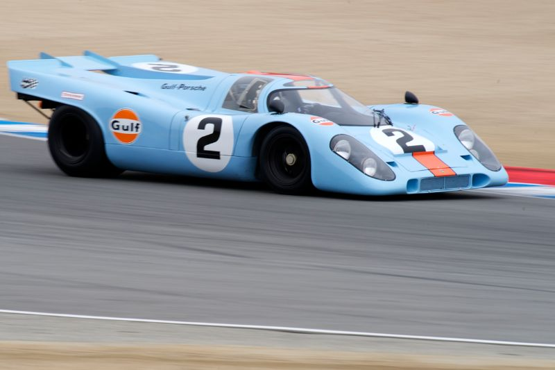 Bruce Canepa takes his rapid Porsche 917 through five.