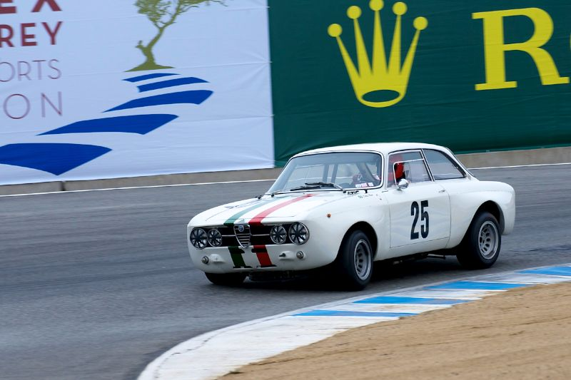 Fred Della Noce in his quick Alfa Romeo GT AM
