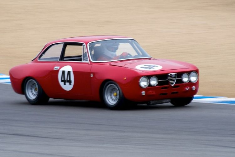 Steven Cole in his 1968 Alfa Romeo GT AM.