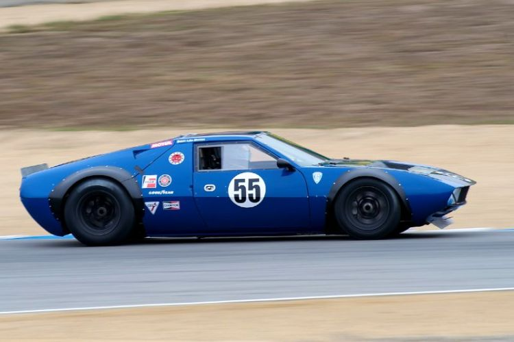 Lilo Zicron in his 1970 De Tamaso Mangusta.