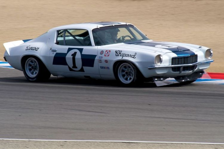 Jimmy Castle Jr. in his Jim Hall Chaparral 1970 Chevrolet Camaro.