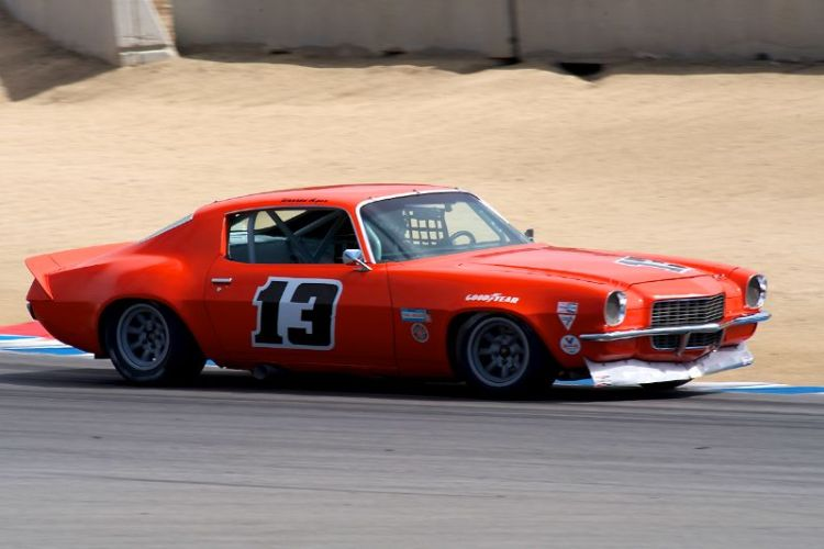 Tomy Drissi drove his 1970 Camaro to second place in group 7A.