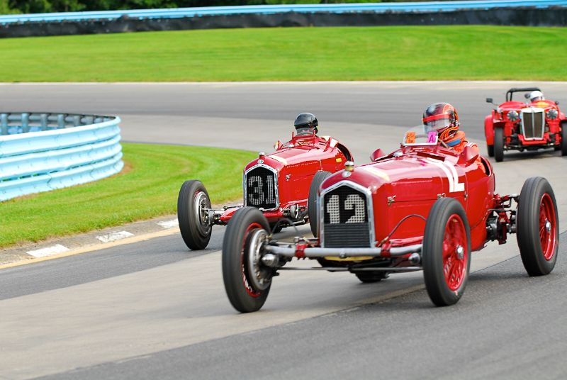 1934 Alfa Romeo P3- Jon Shirley #31- 1931 Alfa Romeo Tipo B of Peter Giddings.