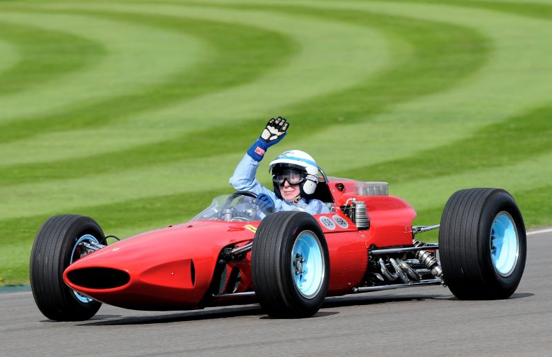 John Surtees in his F1 Championship-winning Ferrari 158