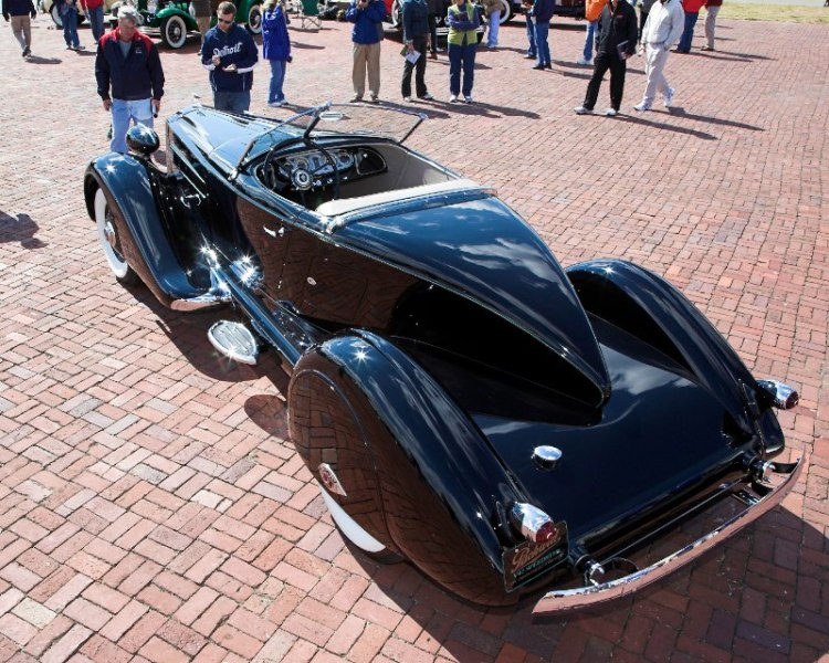 The  'Boattail' of the 1936 Packard V12 Speedster, Body by Fernandez & Darrin, Paris