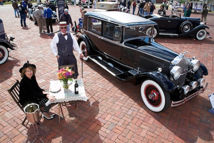 1930 Packard Club Sedan shown in style by the Wismers