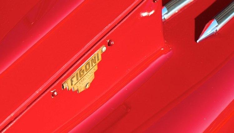Figoni body badge on a 8C 2300 Alfa Romeo.