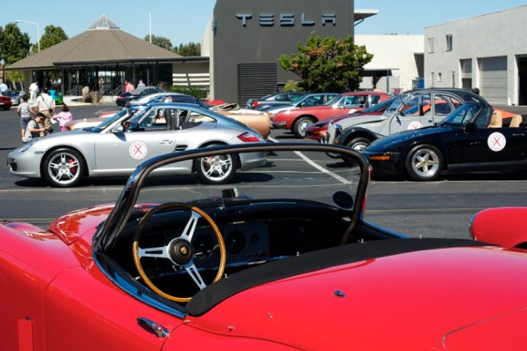 Mid-tour stop at Tesla Motors.