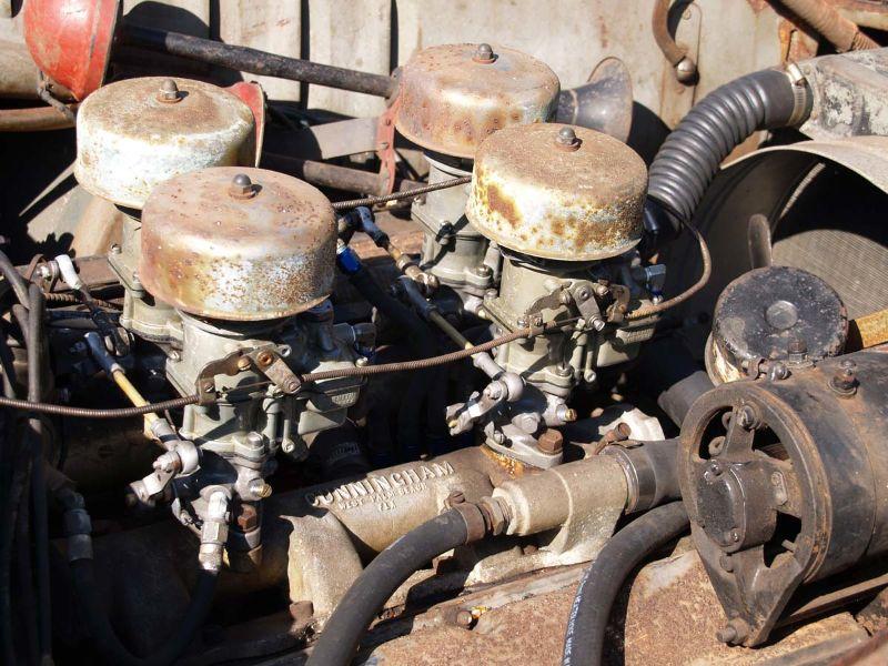 Barn-find Cunningham C3 engine