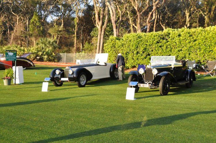 Bugattis in the early morning sun