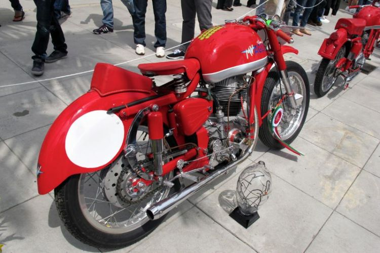This 1958 MV Agusta Gran Sport is awarded for its outstanding beauty at the Rodeo Drive Concours.