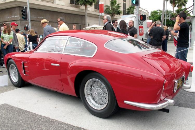 A book could be written about David Sydorick's 1956 Maserati A6G2000 Zagato Double Bubble.  After long wanting to buy this car (chassis #2121) Sydorick was led to find it in a brick garage in Savoca, Sicily.