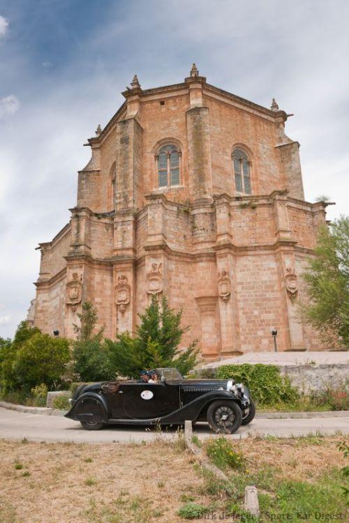 1934 Bugatti T57 Stelvia sn 57258 in front of Monasterio de Duero