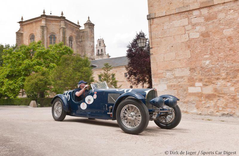 1936 Bugatti T57SC sn 57492R in front of Monasterio de Duero