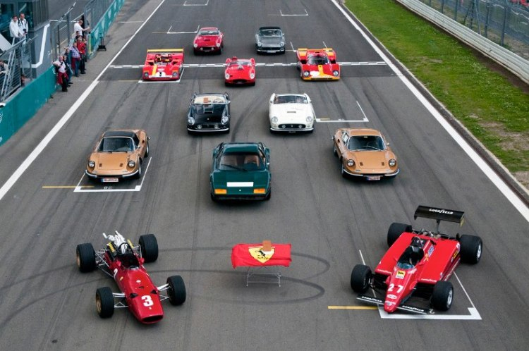 Ferrari display at Modena Trackdays
