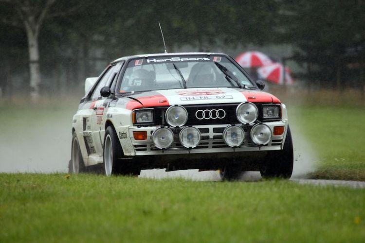 Audi quattro on rally stage