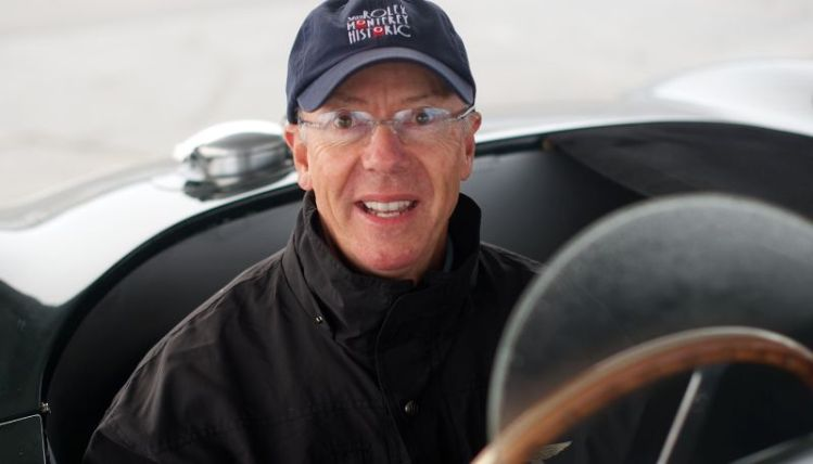 Pre-Reunion Saturday. Fred Bohlander in his C Type Jaguar.