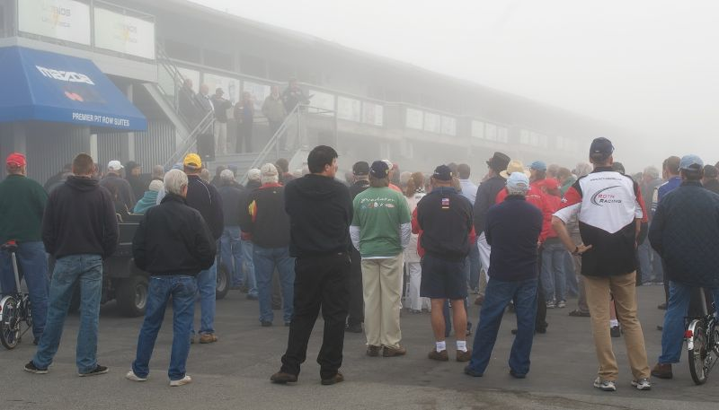 Pre-Reunion Saturday. Drivers meeting. For those of you who do not know him that is Cris Vandagriff on the right.
