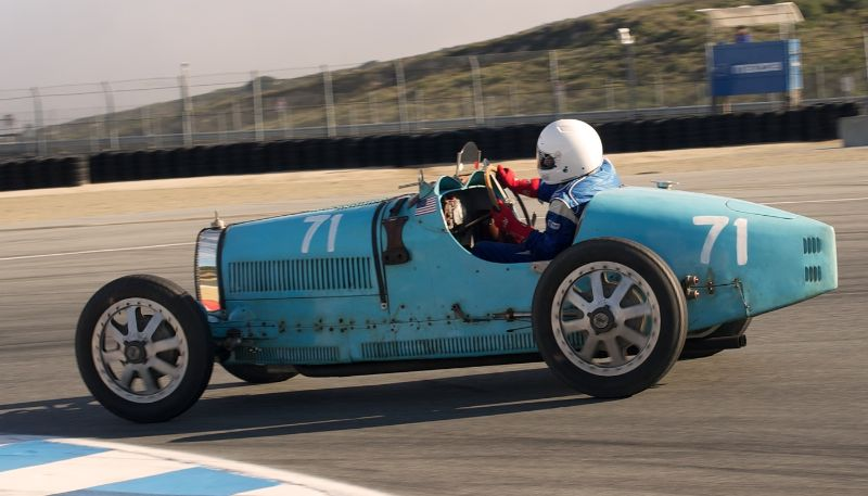 Nathanael Greene in his 1925 Bugatti Type 35.