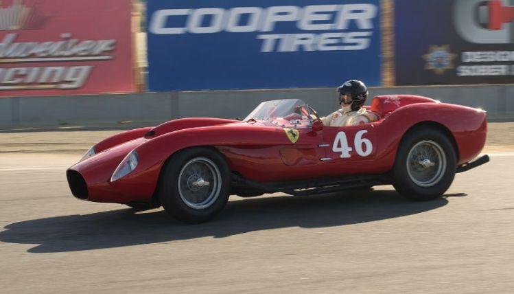 Pre Reunion Sunday Morning. Cris Cox turns into eleven in his Ferrari 250 TR.