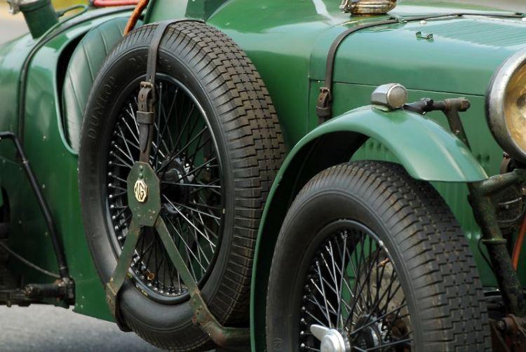 Detail 1934 MG K3 Magnette.